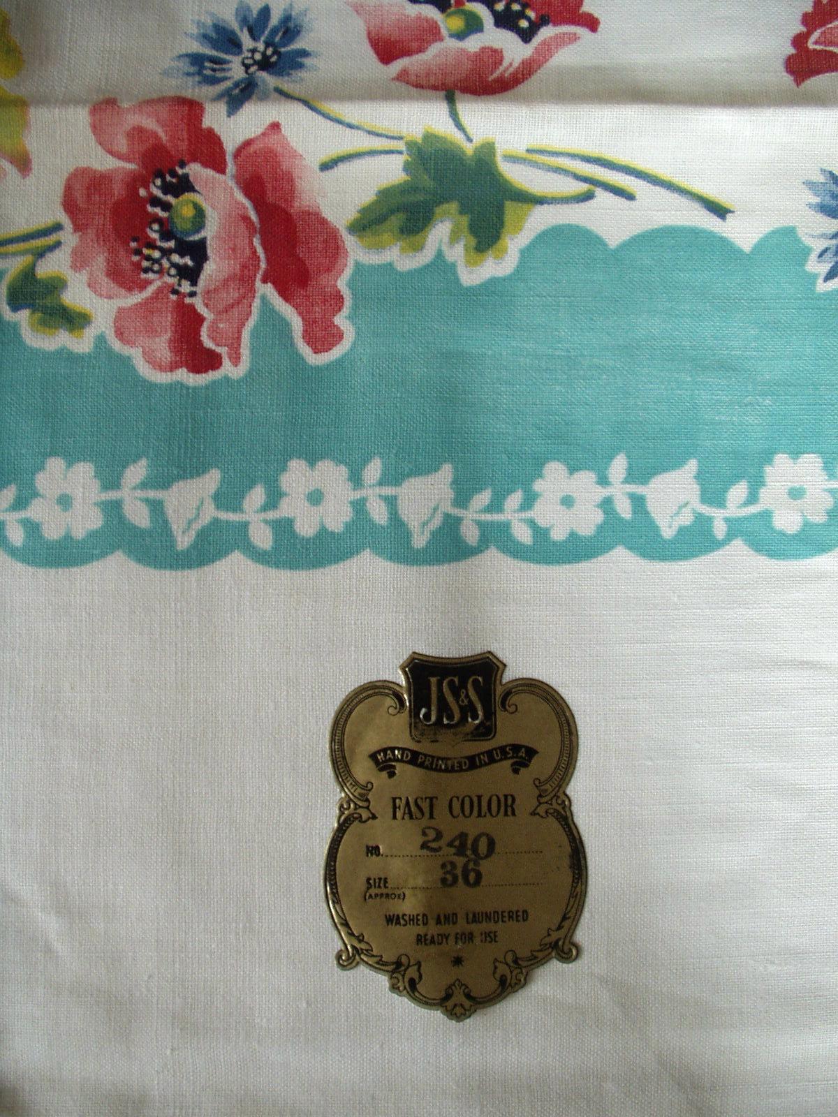 Printed Kitchen Tablecloths Vintage