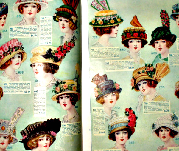 A Fascinating Look At A 1914 Vintage Edwardian Hat And Millinery ... f82a7f0c903